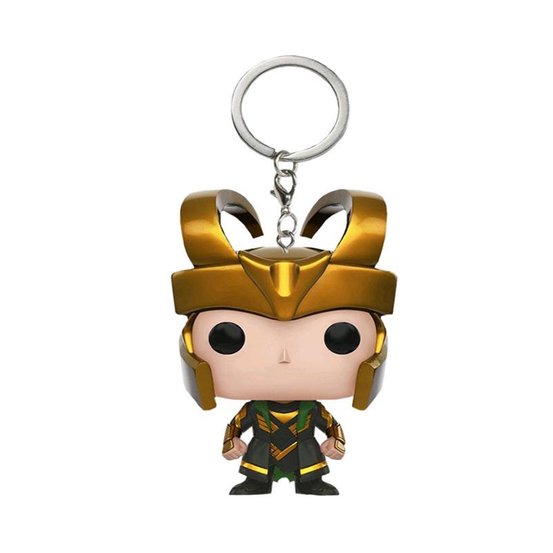 Funko Pop Avengers Unendlicher Krieg Hulk Iron Man Spiderman Thanos Captain America Ameise Thor Loki Groott Actionfiguren Keychain Spielzeug C19042101