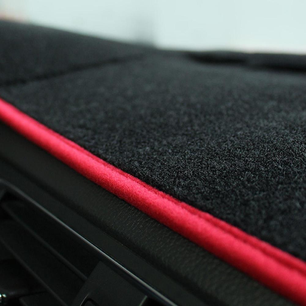 Auxmart Kırmızı Araba Dashboard Dash Mat Kaymaz Güneş Kapak Ile Antiskid Ped Siyah Renk Trim Için Toyota Corolla 2014 2015 2016-2018