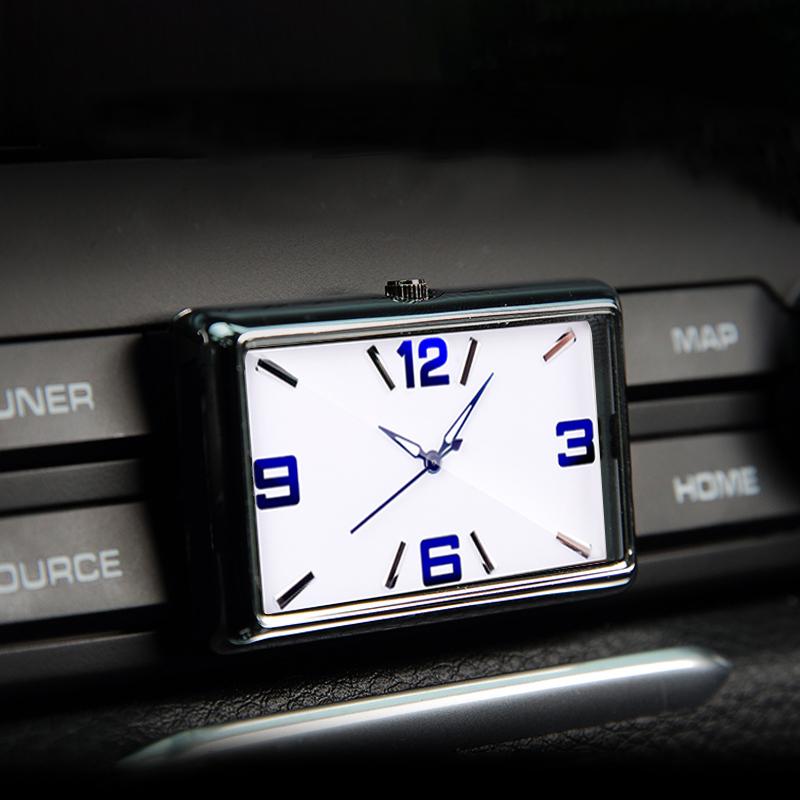 Mini Luminous Car Dashboard Stick-On Time Clock Auto Interior Decor Kit