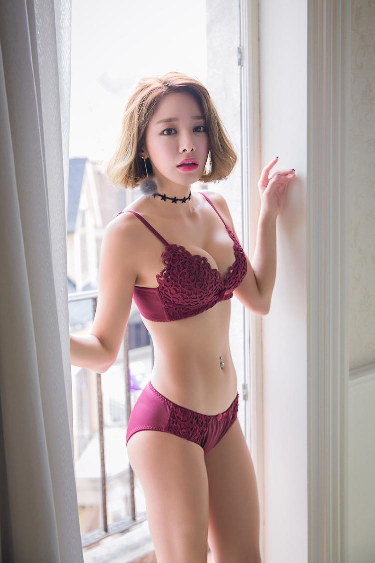 Jerrinut Sexy Lingerie Set Underwear Women Push Up Bra Set Seamless Embroidery Bra And Panty Brassiere Bra Brief Sets 15