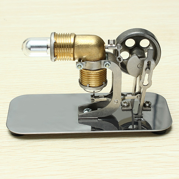 Stirling engine birthday present Mini model puzzle Scientific experiments equipment High temperature physical toy12