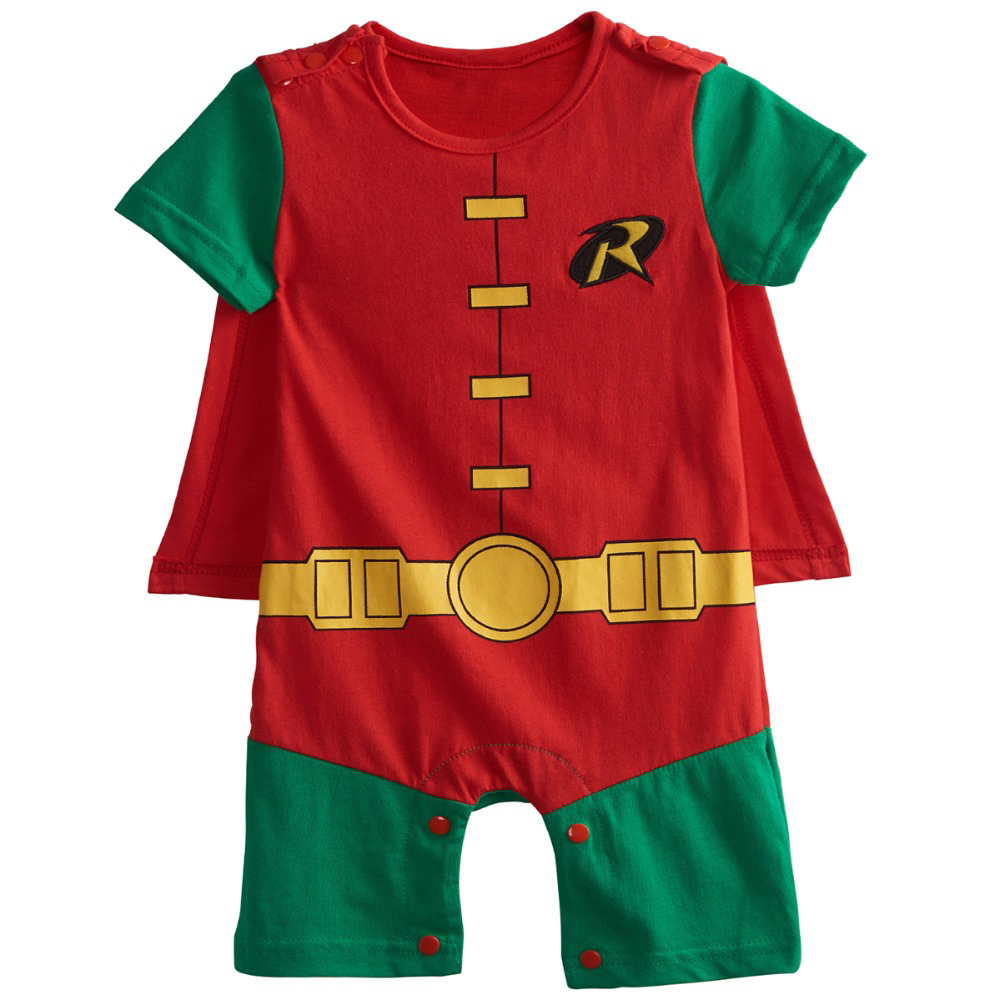 Baby-Boys-Robin-Rompers-Infant-Costume-Jumpsuit-Short-Sleeve-Size-0-24M