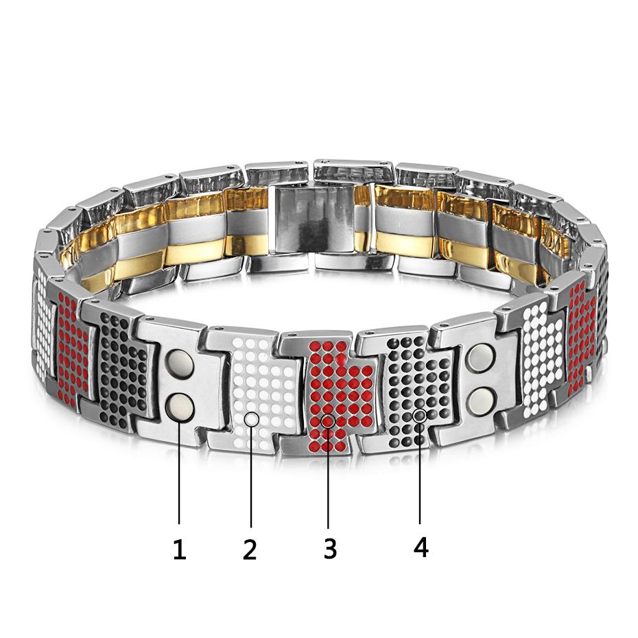 silver gold Titanium Bracelets (16)