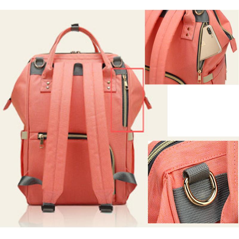 Fashion Brand Large Capacity Baby Bag Travel Backpack Designer Nursing Bag For Baby Mom Backpack Women Carry Care Bags Y19061004