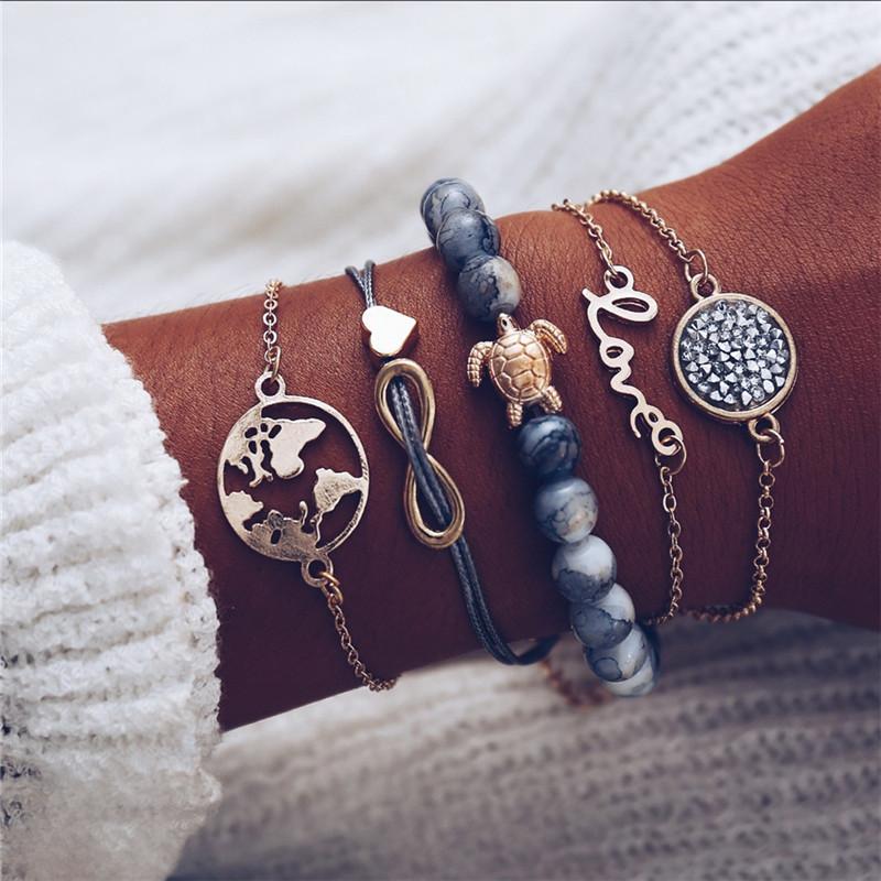 17KM-Bohemian-Heart-Stone-Tassel-Bracelets-Set-For-Women-Bijoux-Vintage-Charm-Bracelet-Bangles-2019-Female.