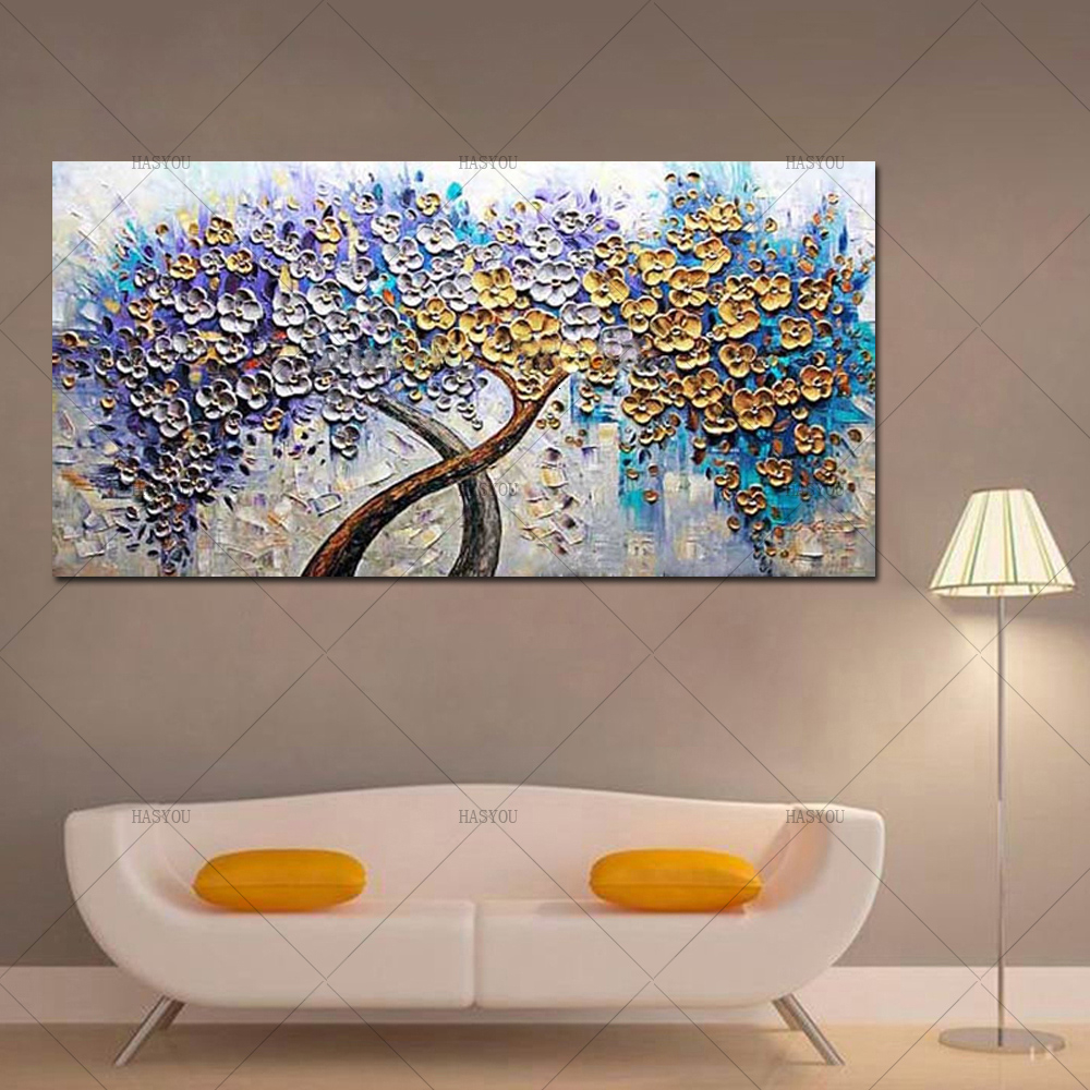 100-Handmade-Abstract-Sunflower-Pictures-On-Canvas-Modern-Flower-Oil-Paintings-Artwork-For-Home-Decoration-Accessories (2)