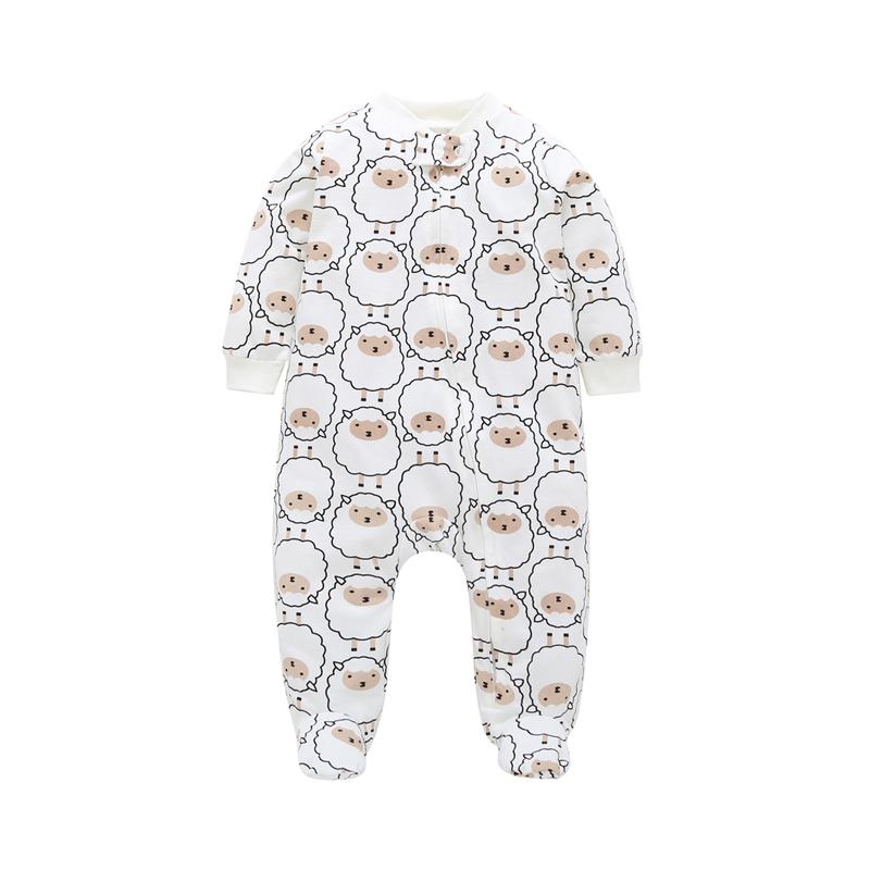 spring autumn baby cartoon animal print clothes cotton Infantil Toddler newborn baby boy jumpsuit Bebes 0-12 month