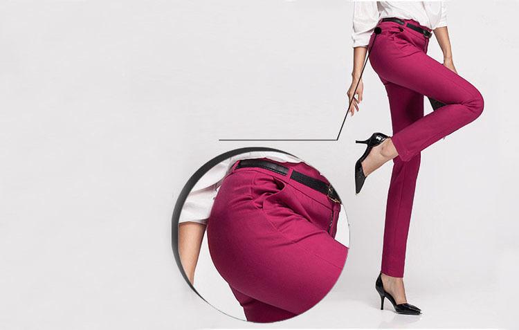 Nuevas mujeres Casual Ol Office Lápiz Pantalones Chicas lindas Slim Stretch pantalones Moda Candy Jeans Lápiz pantalones