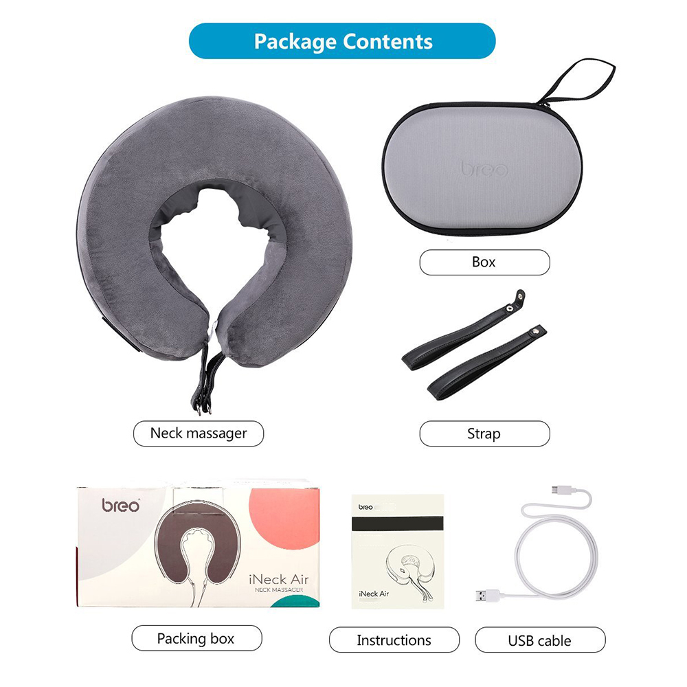 wholesale Neck Massage Pillow Inflatable Travel Pillow Portable Ergonomic U-shape Cervical Traction Device for Car & Office Massager