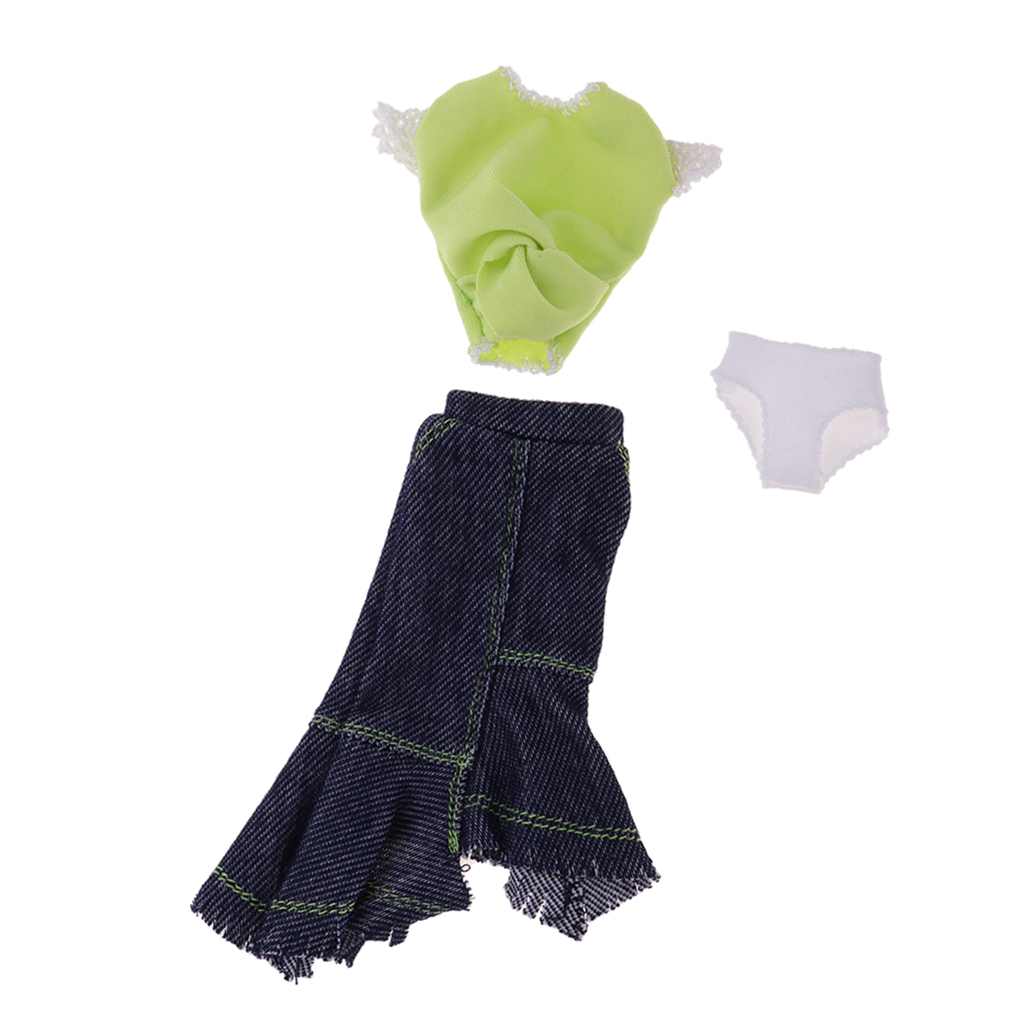 Trendy Doll Loose Oversize Long T-shirt for 12inch Blythe Doll Girl Clothes