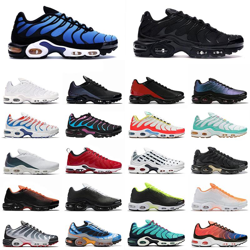 nike air max tn plus se Hombre Mujer Zapatillas de running Triple Negro  Blanco Retroceso Futuro Hombre des chaussures entrenador zapato Zapatillas  ...