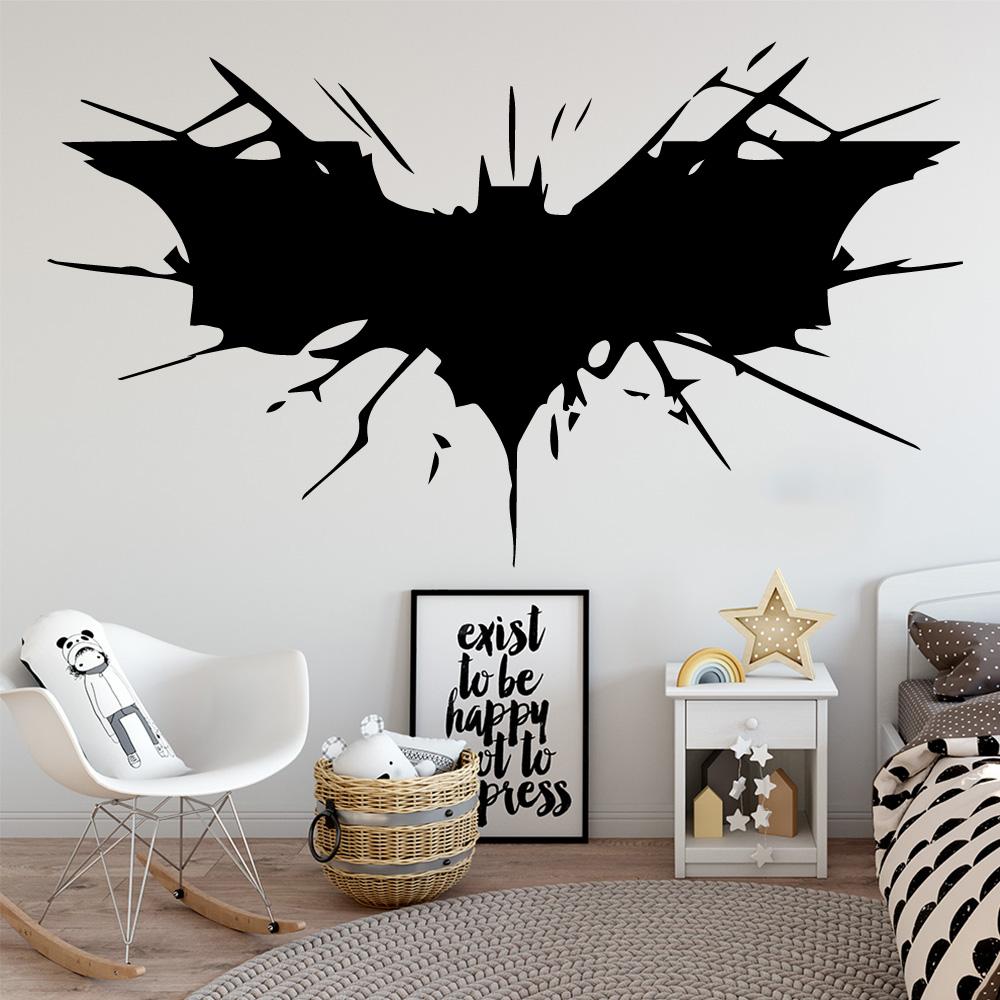 Batman Dark Custom Vinyl Wall Decals Peel and Stick Wallpaper Decor AH278