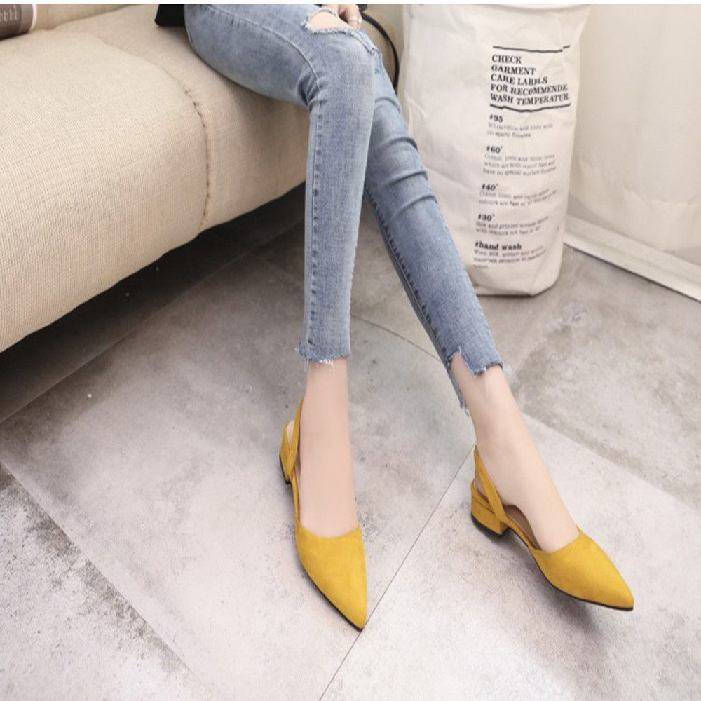 Shoes 2019 Women Pumps Ankle Strap Thick Heel Pointed Toe Cheap Low Heels women Comfortable wedding tacones plataforma mujer #7