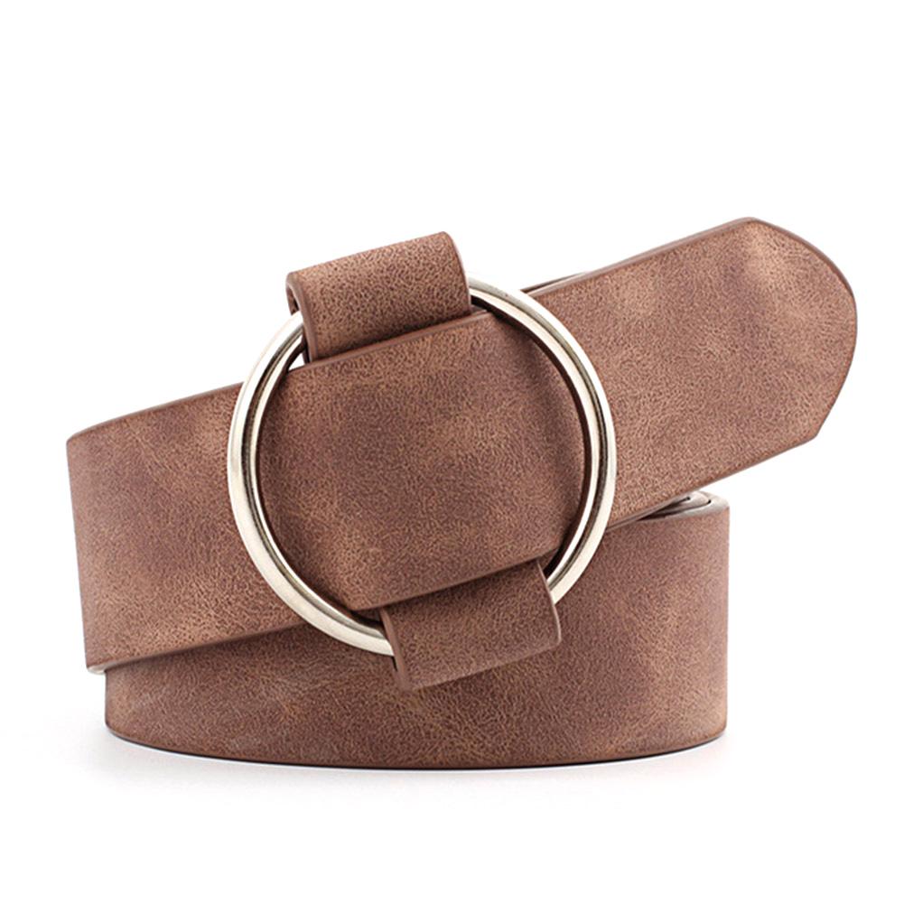 Cinghie di cuoio per donna donne Strap Pin Fibbia E Tacco solido in metallo Donna Jeans