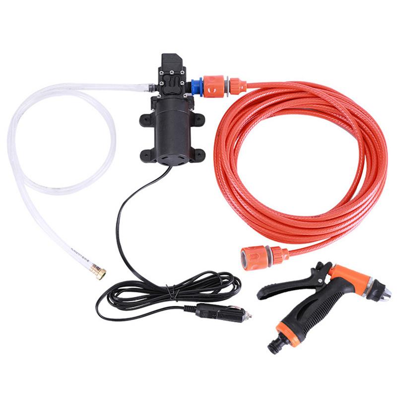 Yüksek Basınçlı Kendinden emişli Elektrikli Araba Yıkama Yıkama Su Pompası 12 V Araba Yıkama Çamaşır Makinesi Çakmak