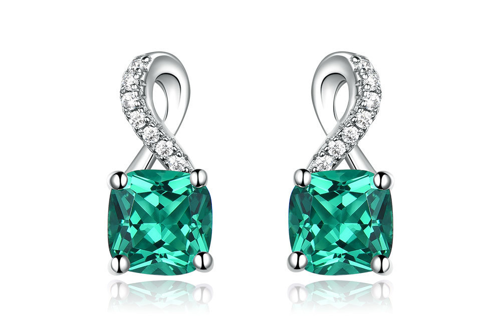 UMCHO Emerald 925 sterling silver jewelry sets for women S027E-1 pc (2)