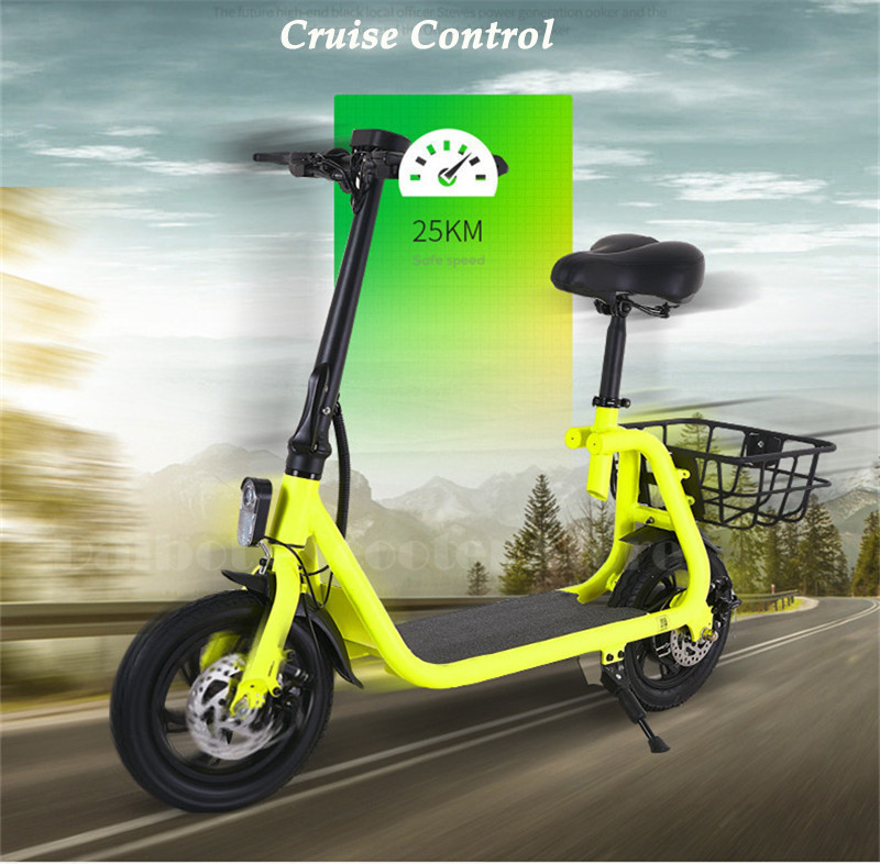 Daibot Adult Electric Scooter Car Two Wheel Electric Scooters With Child Seat 12 Inch 350W 36V Portable Electric Bike Two Seater (6)