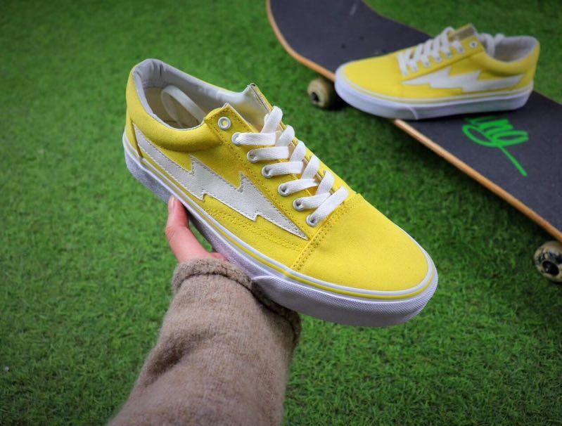 Hot REVENGE x STORM Mens Canvas Shoes Skateboarding Shoes Old Skool Kanye Low fashion womens Casual Shoes eur 36-44