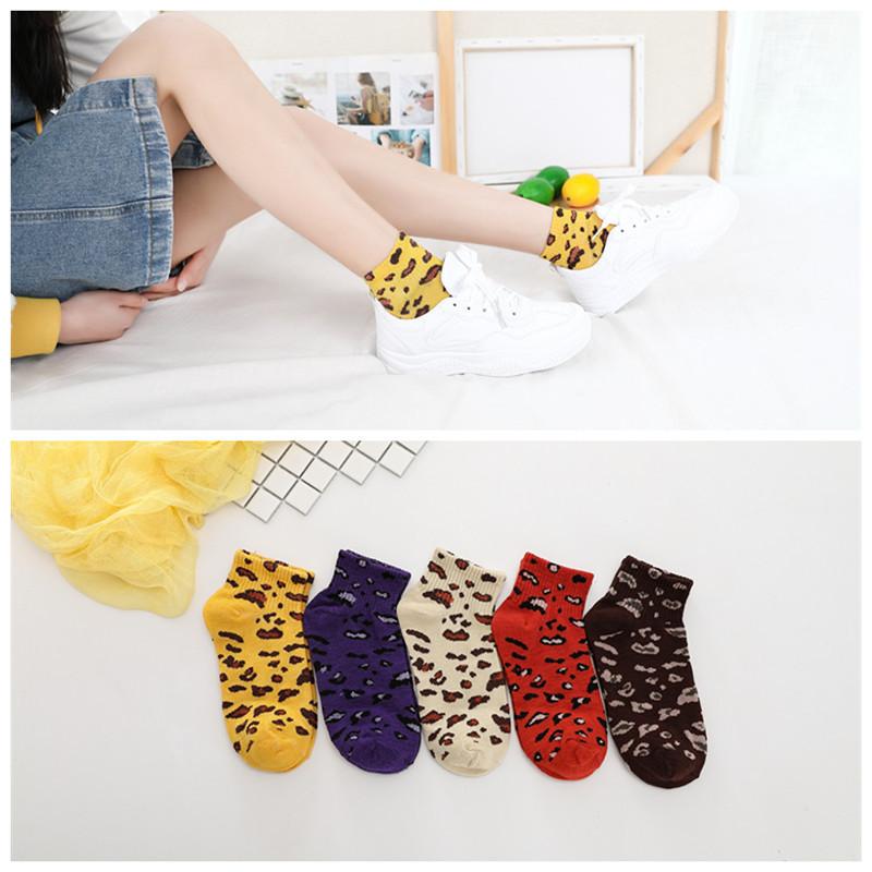 New Spring Summer Transparent Socks Women Leopard Grain Fashion Casual Socks