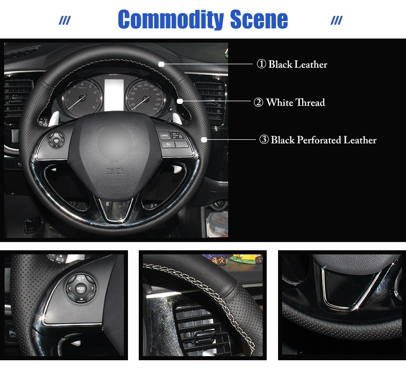 for Mitsubishi Outlander car steering wheel cover