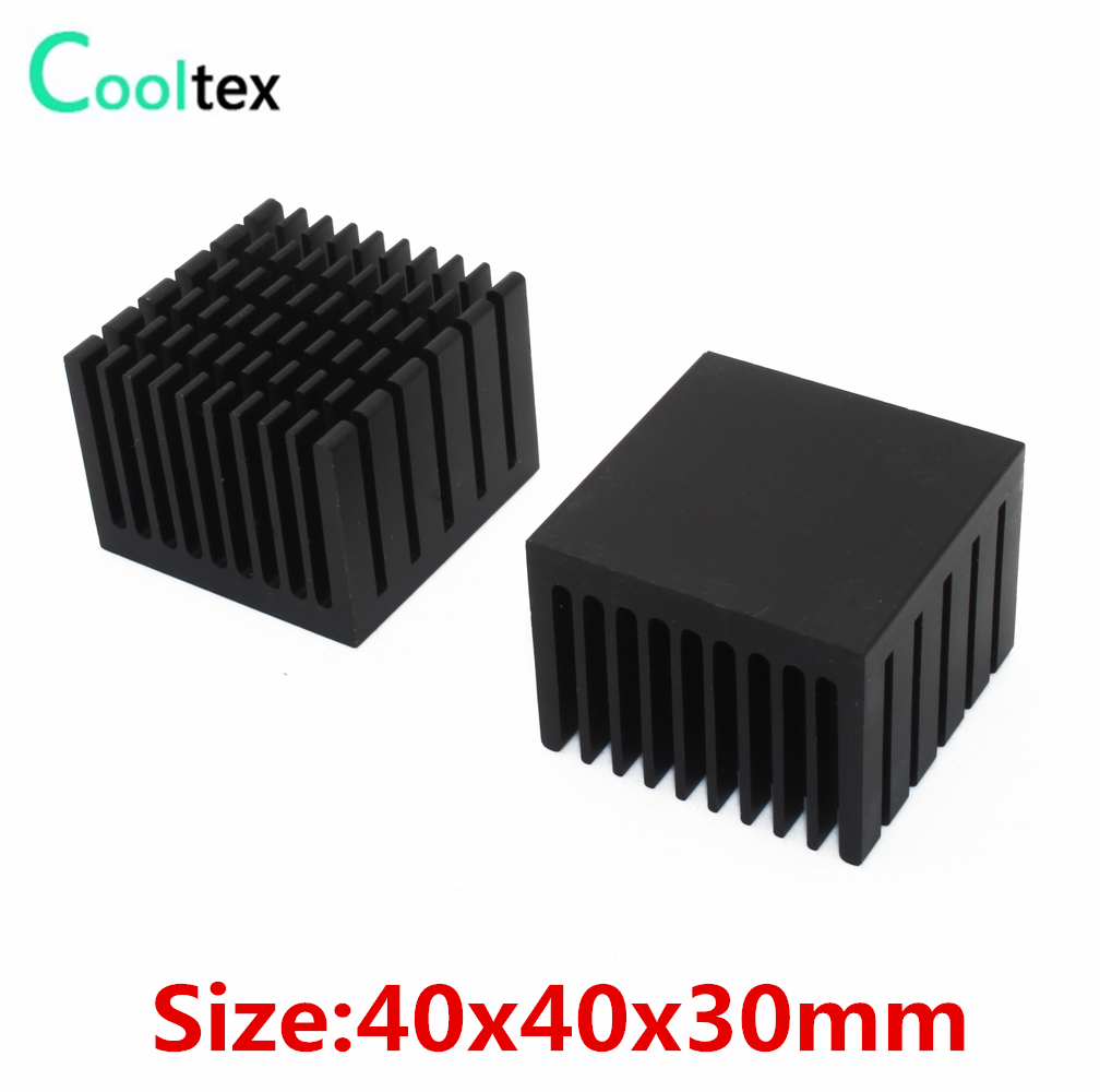 5pcs//lot DC12V Aluminium Dissipateur de chaleur avec ventilateur pour 3 W 5 W 10 W haute puissance DEL
