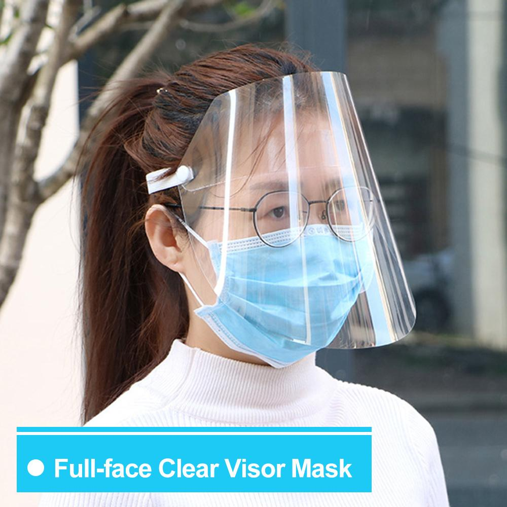 protecci/ón Facial antisaliva Cubierta Facial Transparente para el hogar Escudo Protector Facial Multiusos Transparente Morado a Prueba de Polvo a Prueba de Viento Cocina y Uso Personal