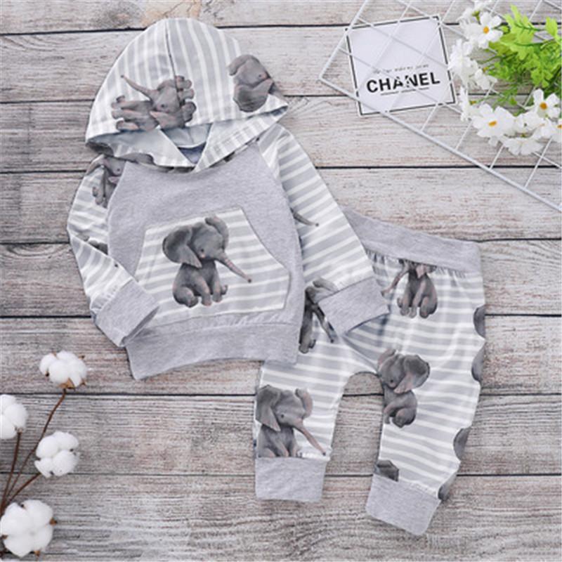 Bebé Bebés Niños Niñas Traje De Algodón Zorro Conejo Cochecito elefante traje Para Nieve Todo en Uno