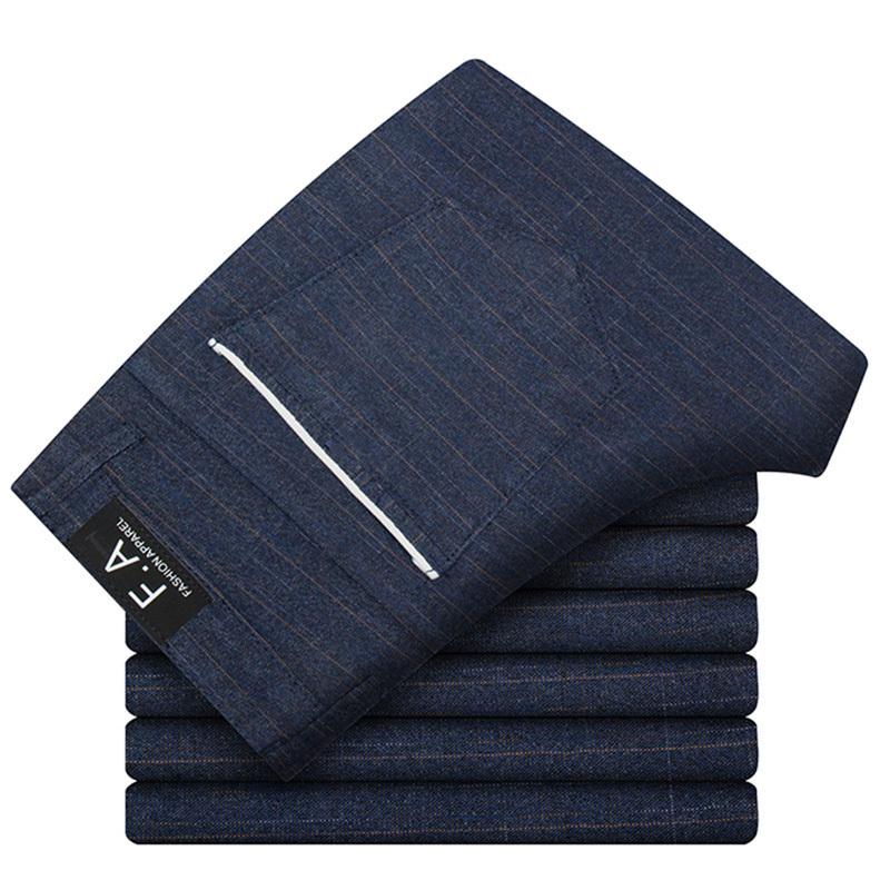 Hcxy 2019 moda uomo pantaloni di alta qualità primavera autunno pantaloni da uomo pantaloni classici business casual pantaloni casual full length Y190510