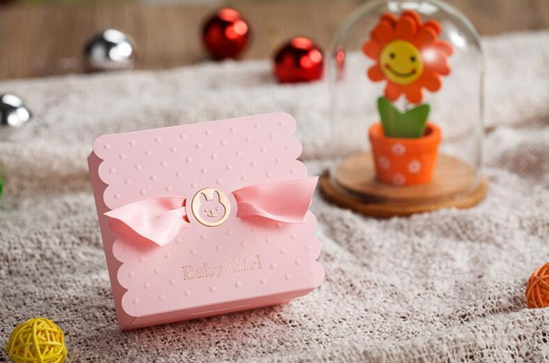 European Baby Boy Girl Party Angel Candy Boxes Baby Shower Favors Baby Birthday Party Sweet Box Chocolate Bag Box 5
