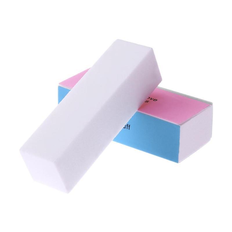 Nail Files Sponge Diamond Nail Buffer File Washable Polishing Brushes Home Salon Manicure Pedicure Buffer Block Tools