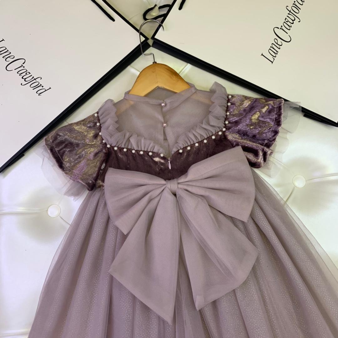 Girls dress detachable beaded dress new trend princess dress