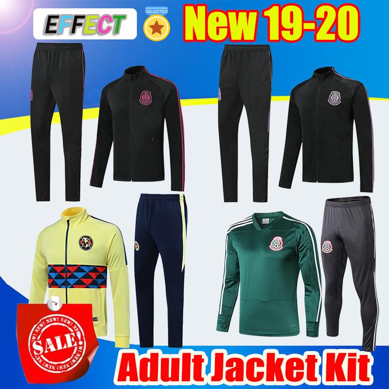 2020 Mexico Jacket Soccer Kits Mexique survêtement de football veste 19 20 Camisetas RAUL CHICHARITO LOZANO Club America costume de football de