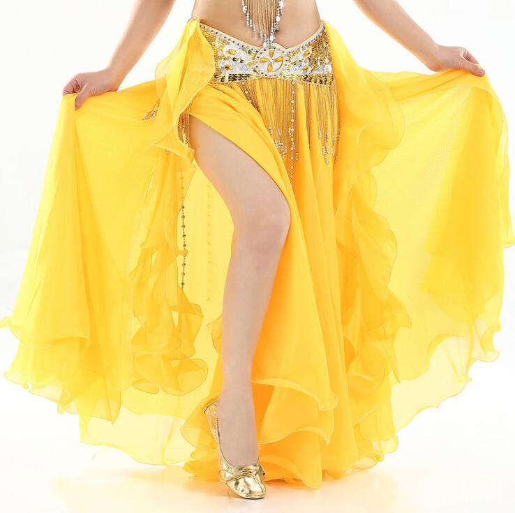 Belly Dance Costume For Women Belly Dancing Skirt Wrap Hip Scarf With Ruffles Side Slit Dark Green Korea Design