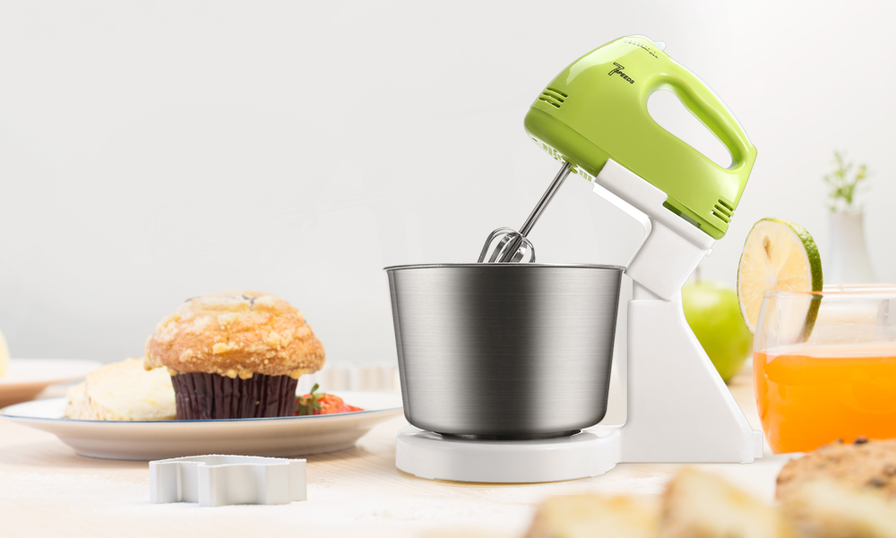 2 in 1 180W 7-speed Kitchen Electric Stand Hand Mixer Whisk Blender for Bread Egg Dough