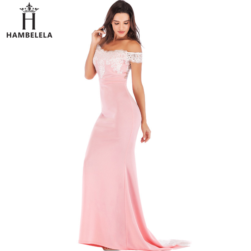 HAMBELELA Vestido De Festa Pink Black Red Mermaid Dress Lace Top Bodice Slim Long Formal Party Dress Charming Wedding Party Gown (17)
