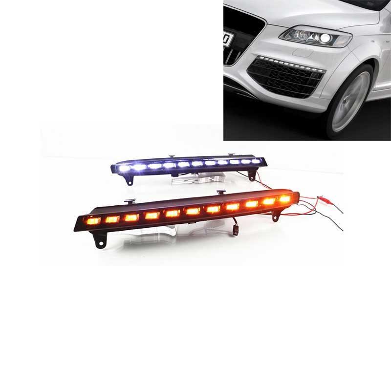 LED Tagfahrlicht Set E4 R87 Prüfzeichen SMOKE DRL High Power für Audi Q3 Q5 Q7