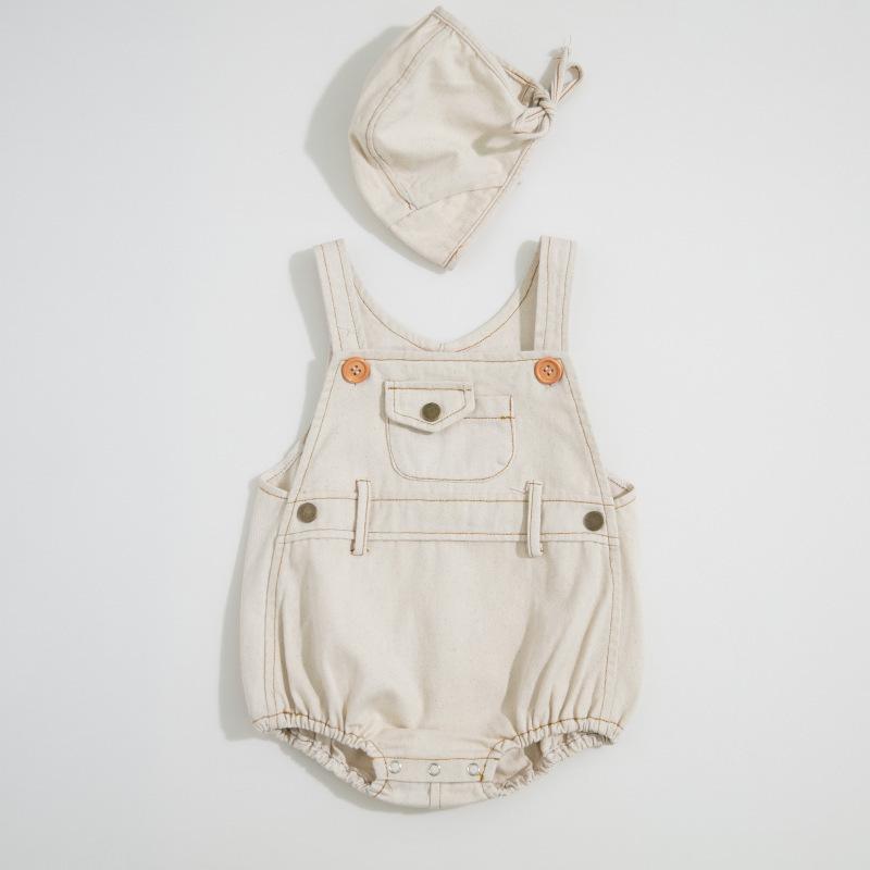 Garçons Et Filles D'été En 2019 Bébé Bodysuits Léger Jeans Ha-yi Triangle Rampant Vêtements Pour Envoyer Des Chapeaux MX190720