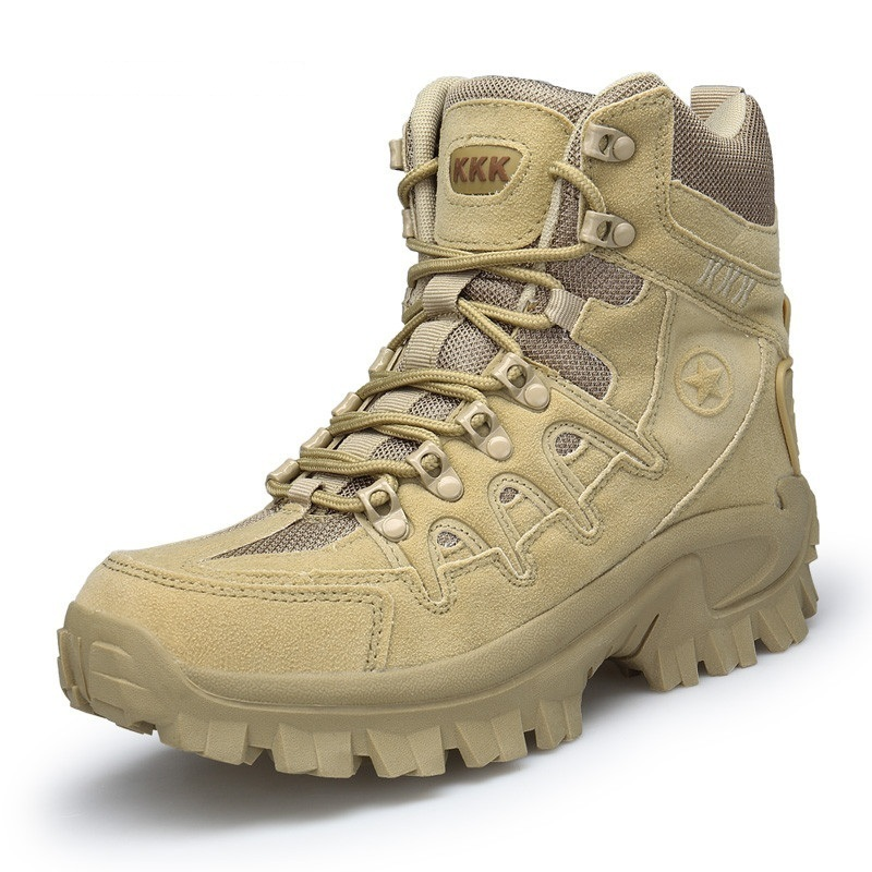 Big Size 39-47 Mens Boots Wear-resisting Non-slip Army Boots Men Waterproof Outdoor Climbing Hiking Boots Men