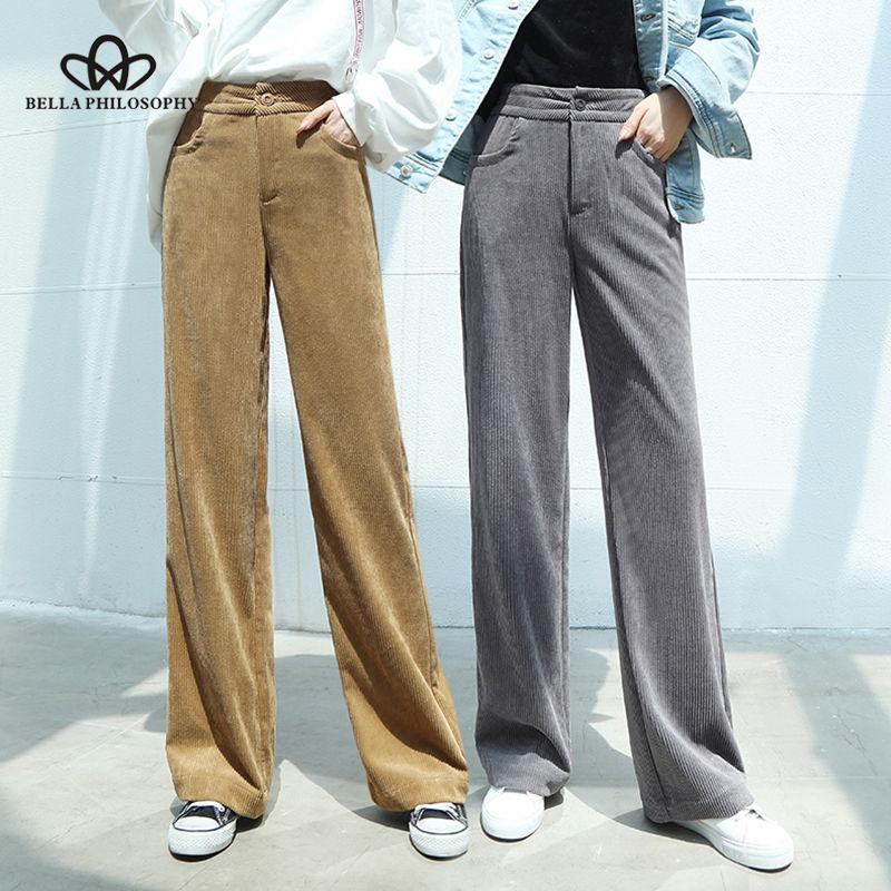 Timogee Pantalones De Pana Para Mujer Pantalones Anchos De Labor De Retazos Pantalones De Cintura Alta Elasticos De Pierna Ancha Pantalones Ropa