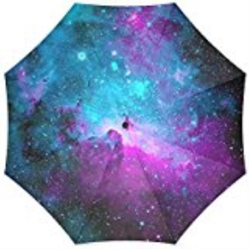 Outer Space Nebula Automatic Tri-Fold Umbrella Parasol Sun Umbrella Sunshade