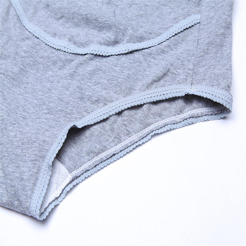 M-XXXL Pregnancy Maternity Clothes Cotton Women Pregnant Smile Printed High Waist Underwear Soft Care Underwear Clothes S14#F (3)