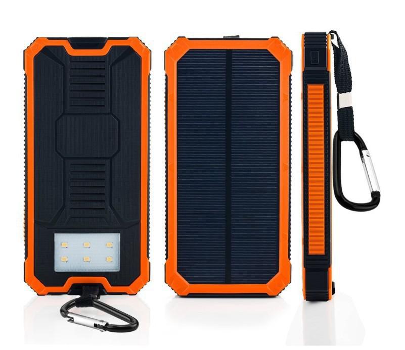 Banco de energía solar 20000mAh Panel solar Cargador de batería para teléfono Bancos de energía solar para iPhone para Samsung