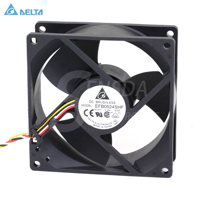 Two-Wire for Delta EFB0924VHF 9CM 9232 24V 0.27A Inverter Cooling Fan