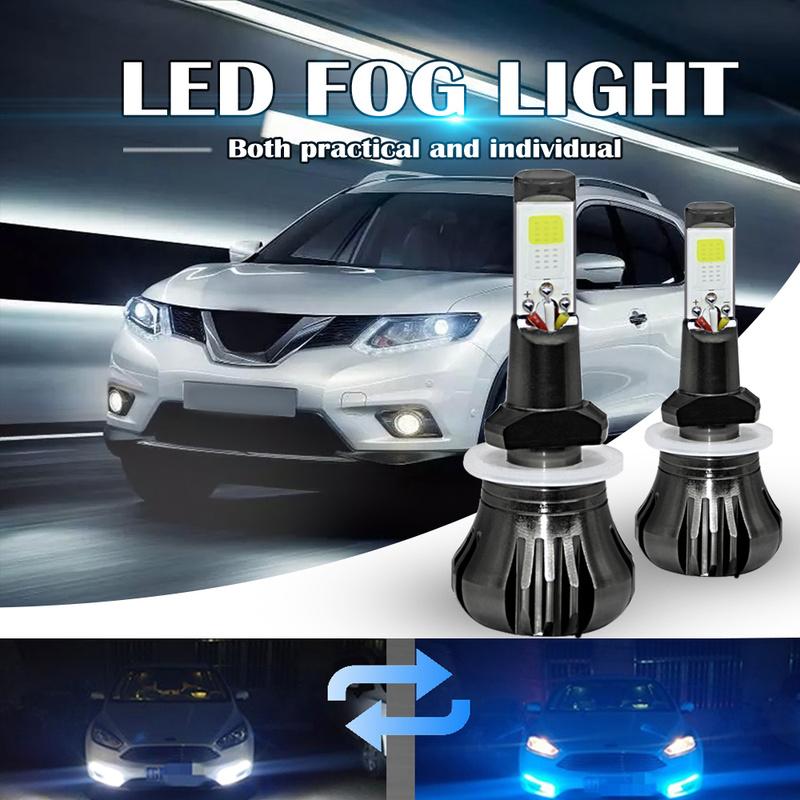 2× 880//881 Pink-Purple Still//Flash Mode LED Light COB Bulb Kit Fog Light Car