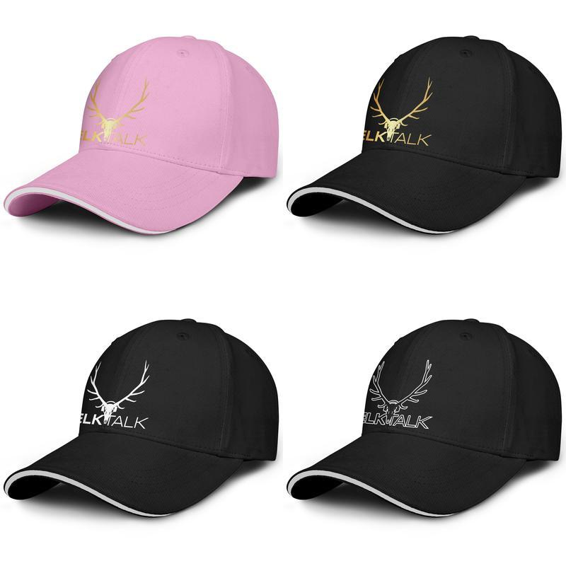 Elk Outdoor Snapback Sandwich Cap Adjustable Baseball Hat Plain Cap