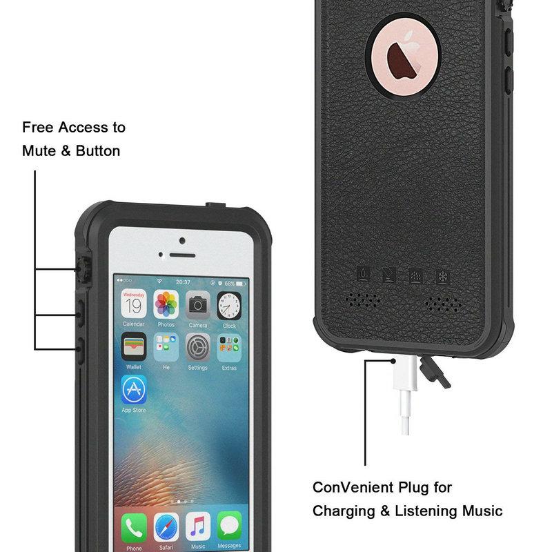 Redpepper Sealed Waterproof Case For iPhone 5 5S SE Shockproof case (20)