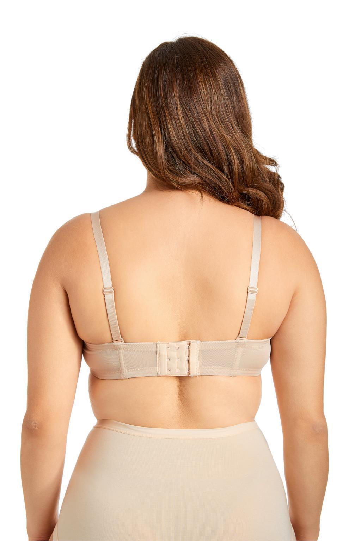 DELIMIRA Women/'s Full Figure Underwire Contour Multiway Strapless Bra Plus Size