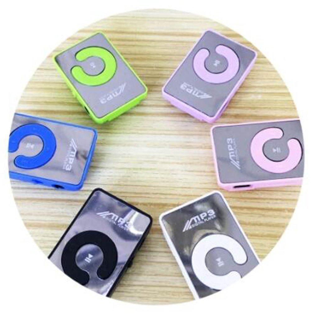 Miroir Portable Lecteur Mp3 Mini Clip Mp3 Portable Sport Player Mode Mp3 Walkman Lettore Usb Digital Music