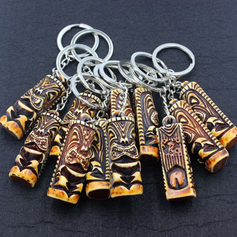 12pcs lots cool kangaroo flower bone kangaroo lucky totem key-chains