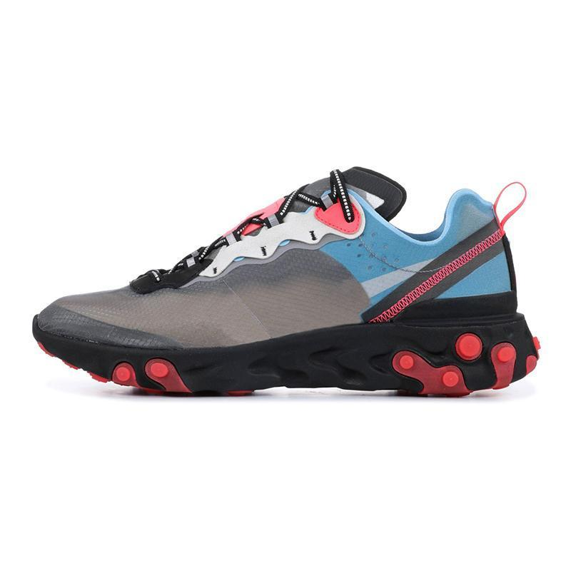 2019 Sail Light Bone React Element 87 Zapatillas para correr Desert Sand Gris oscuro Foto Azul Hombres Mujeres UNDERCOVER x Próximos zapatos de diseñador
